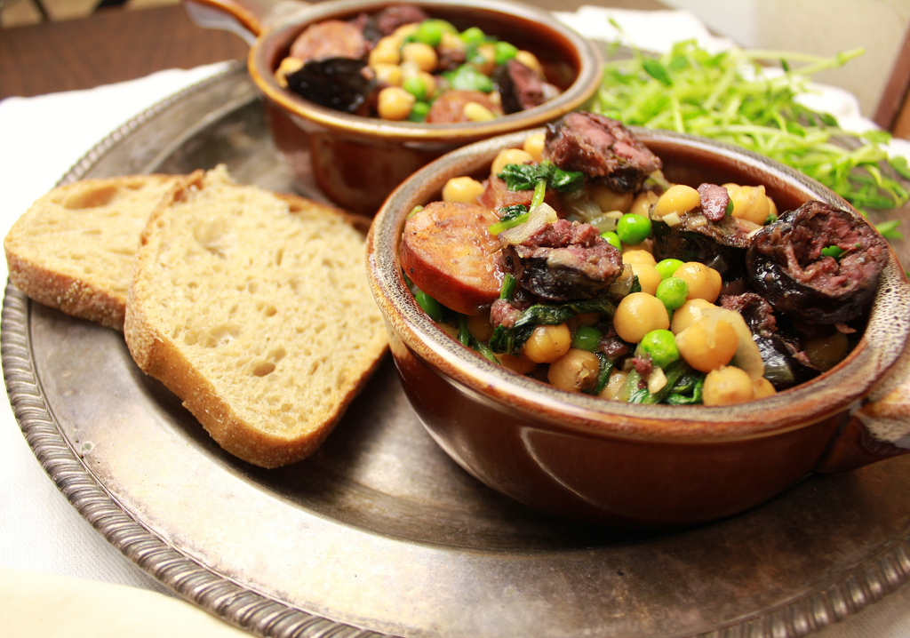 Butifarra Negra / Black or Blood Sausage with Garbanzos