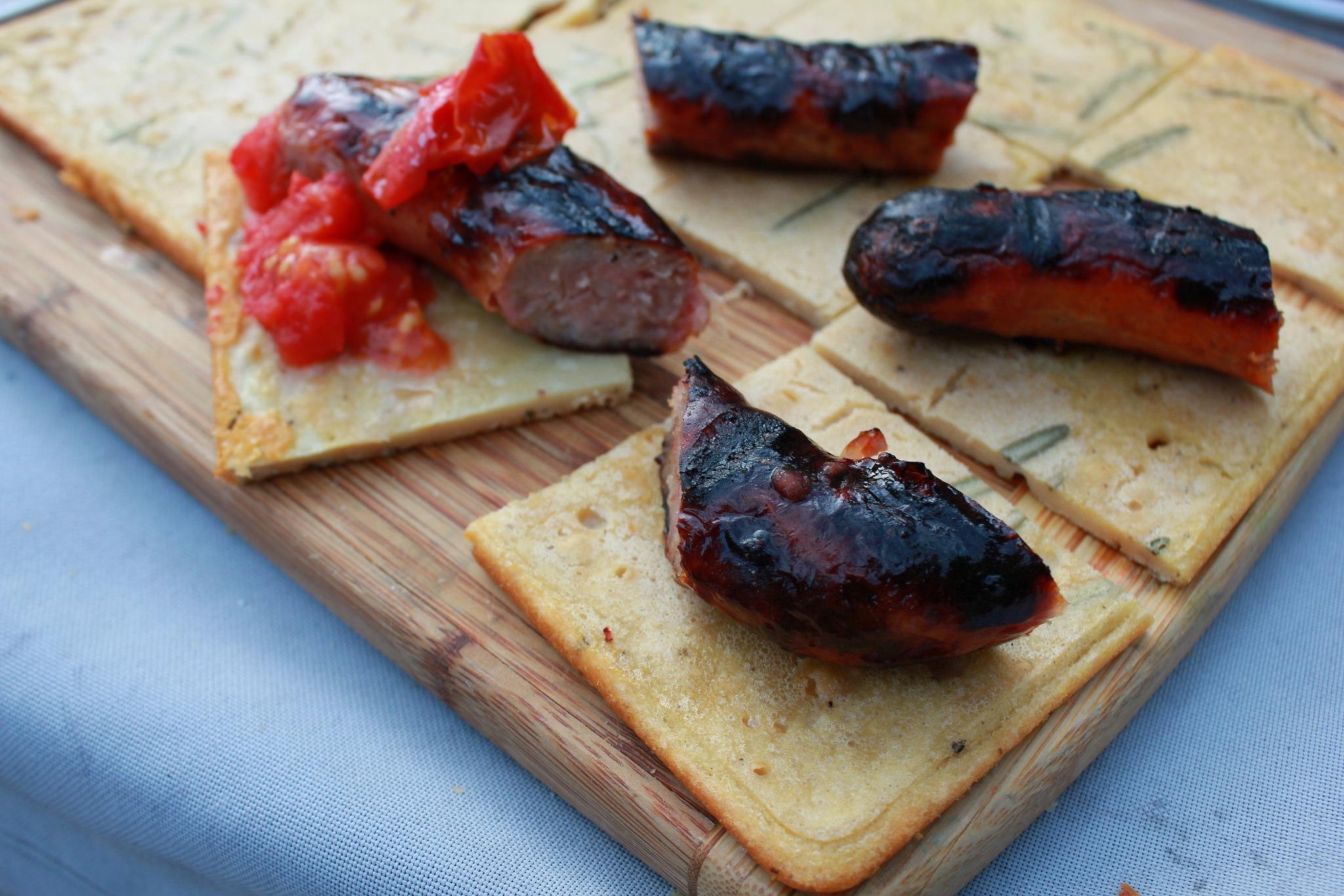 Argentine-style Faína with Chorizo