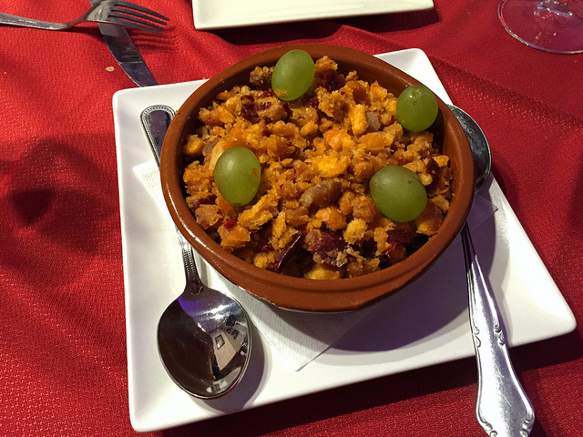 La Mancha-style migas from central Spain